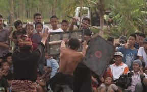 Traditional Indonesian Gladiator Fight