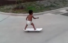2 Year Old Skateboarder