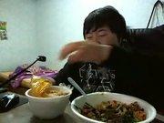 Guy Loves His Food