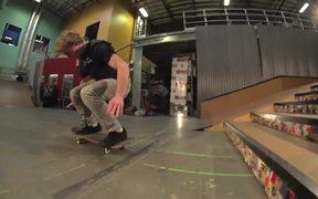 Skateboard Stairs Back Flip