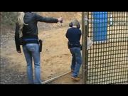 Little Boy Shoots with a Real Gun