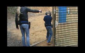 Little Boy Shoots with a Real Gun
