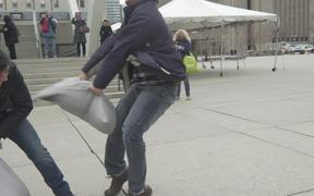 Slow Motion Test International Pillow Fight Day