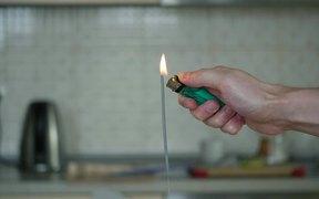 A burning sparkler firework. Free HD video footage