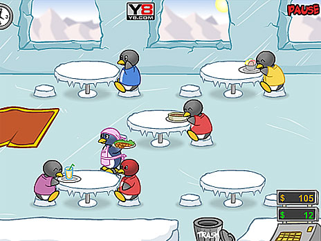 Penguin Diner Game - Play online at Y8.com