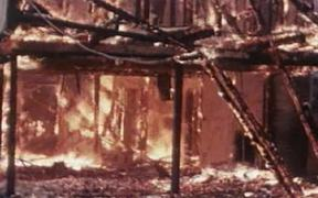 Fire Set By Rioting Students