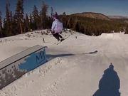 Alex Brown 2012 Skiing festivities