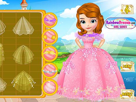 Design Princess Sofia S Wedding Dress Game Play Online At Y8 Com