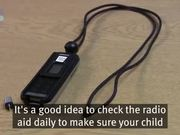 Hearing technology for deaf children radio aids