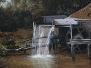 Wooded Landscape with Water Mill - Art in Motion