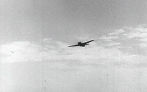 American Planes Pounding a Japanese-Held Island