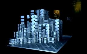 Projection Mapping on 3D Cubes at Paris