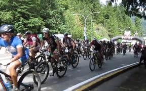 Mass start of 650. BC Bike Race 2015