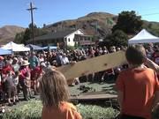 Zucchini Race at Twisp Farmer's Market
