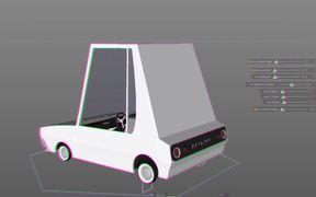 Cartoon SPY Car