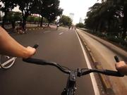 Jakarta Car Free Day & Regular Traffic Fixed Gear