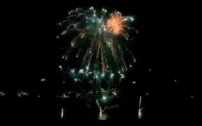 Lightning & Fireworks Over Lake Como