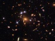 Quintuple quasar galaxy cluster (annotated)