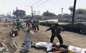 GTA V - Gang War Mod: Ballas vs. Families