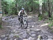 Marius on a short technical bike ride