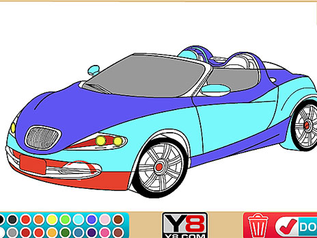 Coloring 16 Cars Game - Play online at Y8.com