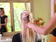 Half Up Style Hair Tutorial