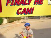 He can ride bike cylce