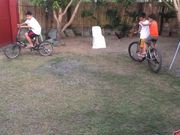 Kids Riding The Bike