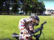 Amelie Learns to ride her bike