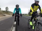 Sesion de bike a rueda de un pro del triatlon