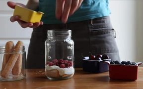 Cherry Berry Trifle in a Jar
