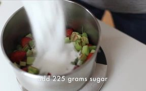 Rhubarb Strawberry Basil Jam