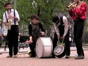 Street Theater Performance From The White House