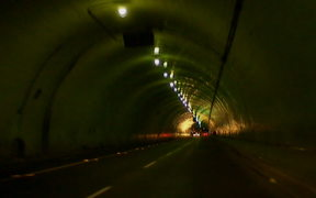 Cars and a Tunnel