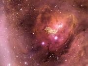 Zooming in on the Lagoon Nebula