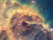 Zoom out of Carina Nebula