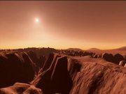 Flight over Vallis Marineris on Mars