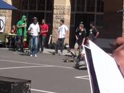 Competition Between Skateboarders