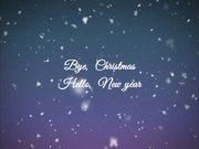 Bye, Christmas Hello, New year