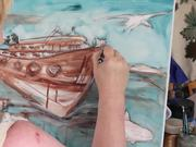 Artist Painting in the Studio