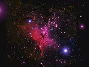 Zoom on the Eagle Nebula