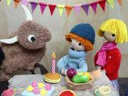Snowy & Chinook's Birthday invite: Tulip's Party