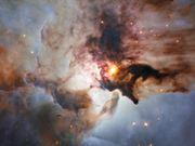 Panning across the Lagoon Nebula
