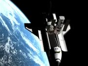 Positioning the Space Shuttle before the capture