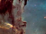 Pan over Pillars of Creation — visible