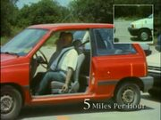 4 Speeds Car Crash Simulation & Effect on a Driver
