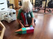Magna-Tile trick