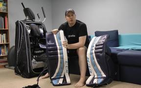 How to Break-in Hockey Goalie Equipment Tutorial