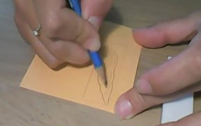 Carving Stamp from Eraser