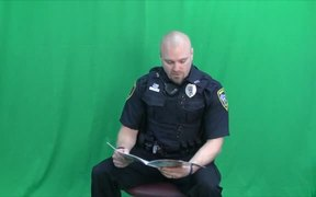 A.L.I.C.E. Training Book Reading with Officer